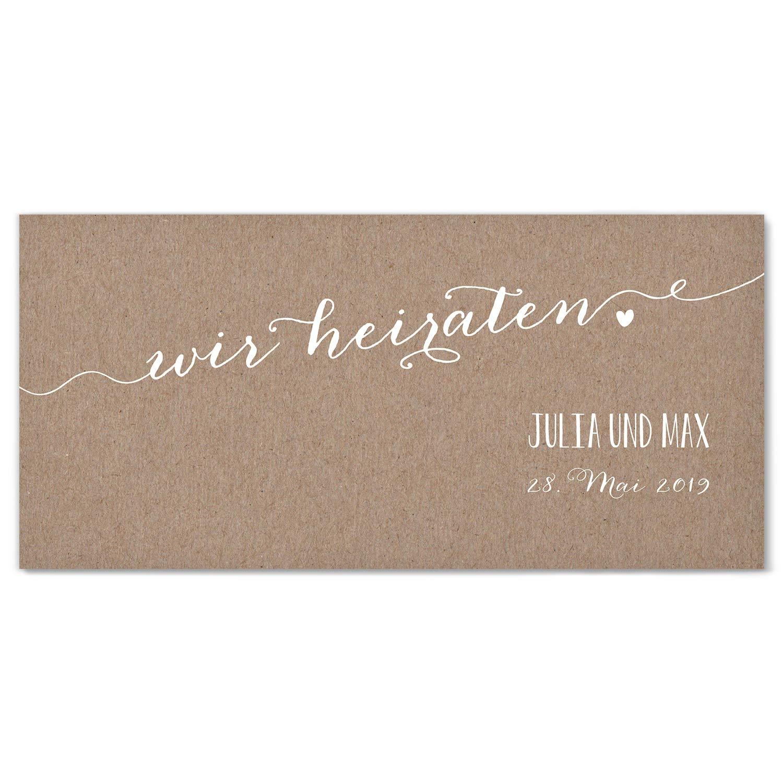 Hochwertige Einladungskarten zur Hochzeit im edlen Kraftpapier Look   Designs auswählbar   Hochzeitseinladungen mit Druck Ihrer eigenen Texte   100 Stück   Rustic Vintage   Moderne Hochzeitskarten B07NBRXXPQ | Förderung  | Lebhaft und liebenswe