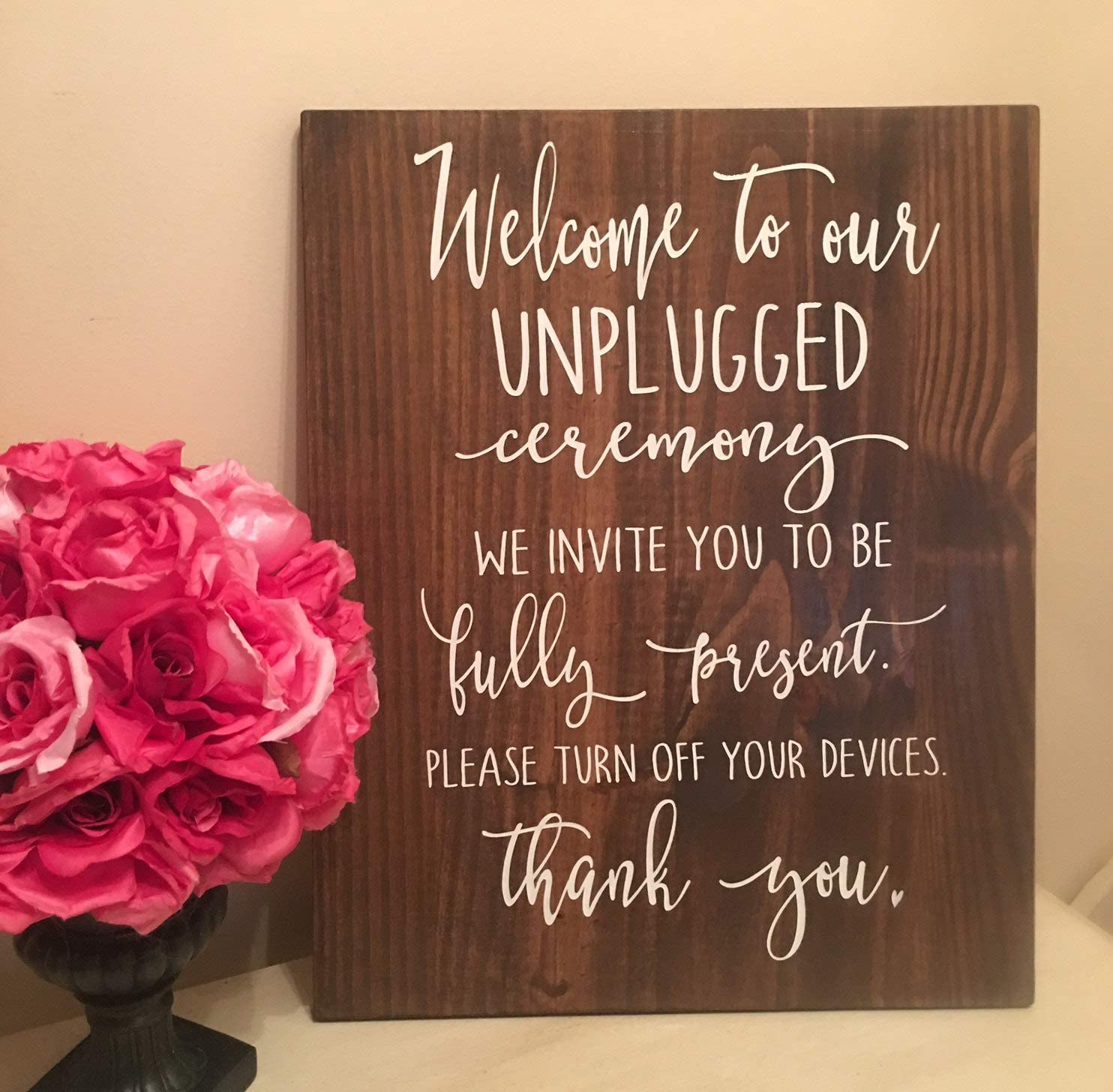 Amazon Com Adonis554dan Welcome To Our Unplugged Ceremony Signs