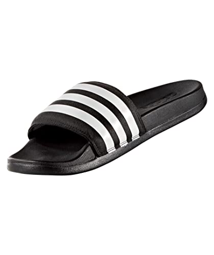 adidas Womens Womens Adilette Cloudfoam Plus Slide Sandals in Black-White -  UK 6 bc91e75f9