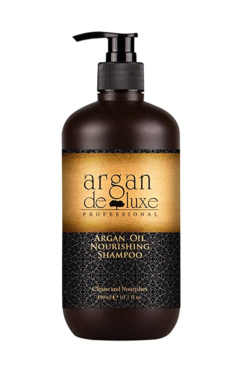 Argan DeLuxe Champú de Aceite de Argan, 300ml, Cuidado del Cabello Premium