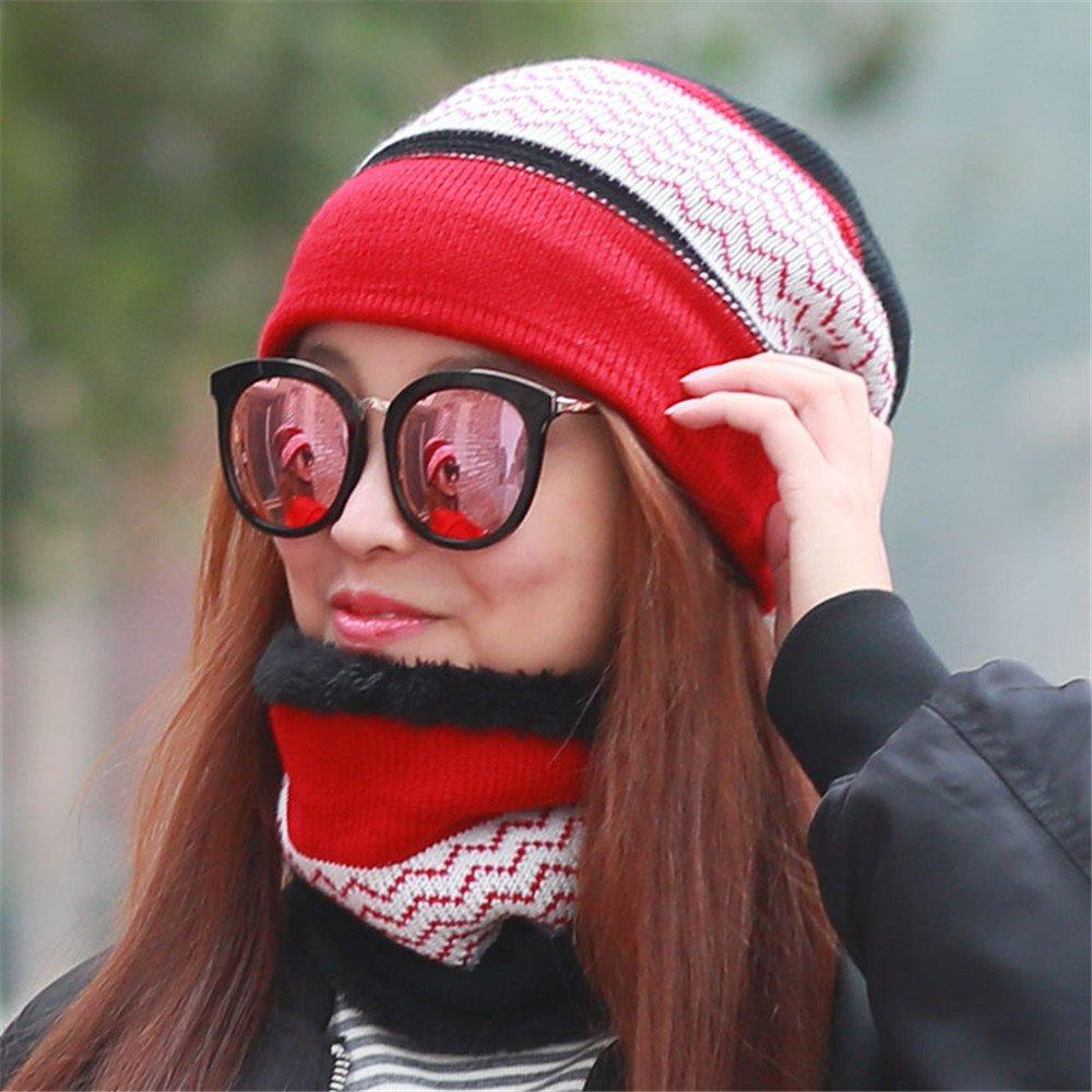 Warm hat, inverno maglia maglione, outdoor Baotou sciarpa, due gruppi di giovani antivento cappuccio...