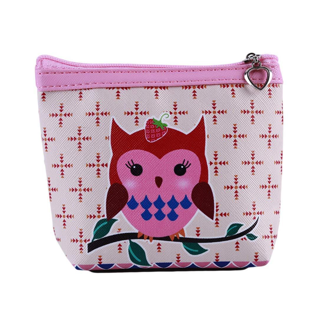 LZIYAN Cute Coin Purse Cartoon Owl Pattern Coin Purse Clutch Bag Portable Small Wallet With Zipper Storage Bag Creative Gift For Women,3# by LZIYAN (Image #1)