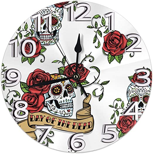 Home Decor Strawberries Watercolor Style Art Country Kitchen Motif 12 Silent Wall Clock Decorative Clocks