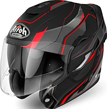 Airoh - Rev Revolution - Casco modular con mentonera abatible de color rojo mate L MATT