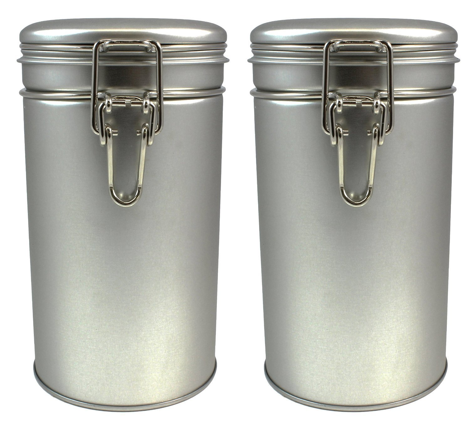 Latching Tea Tin, Tea Canister, Airtight Tea Container, Spice Storage Tins,  Stainless Steel Coffee Canister W/ Airtight Latch Rubber Seal, 12 Oz (Set  Of 2) ...