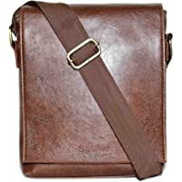 SPHINX Men's Artificial Leather Tan Cross-Body Sling Bag (25x22x7cm)