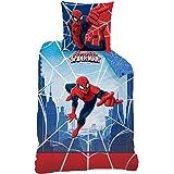 Juego de cama (2 piezas, incluye funda nórdica de 140 x 200 cm y funda de almohada de 63 x 63 cm), diseño de Spider-Man