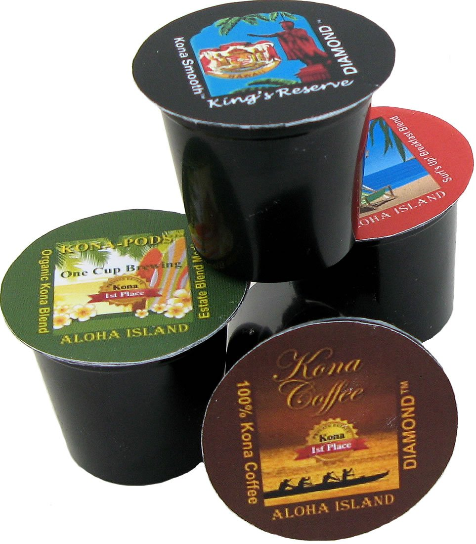 K-cup Coffee of the Month Club, Pure Kona and Kona Hawaiian K-cups Shipped Monthly for Six Months, Gift for Christmas, Mothers Day, Fathers Day, Birthdays, Corporate Gifts and All Occasions by Aloha Island Coffee (Image #3)