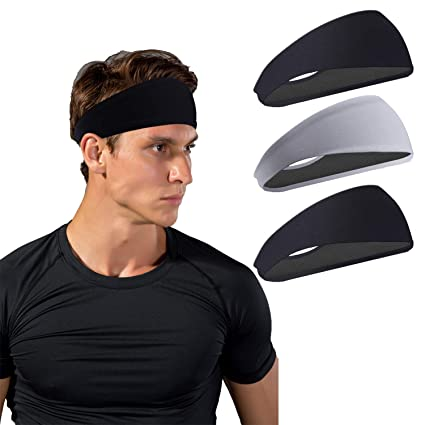 Amazon.com   JOEYOUNG Sport Headbands for Men and Women - Mens ... 6e9f6791f3f