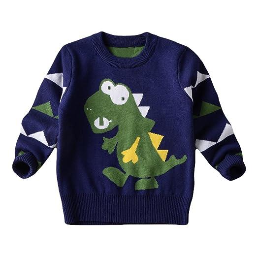 Amazoncom Cm Kid Little Boys Dinosaur Ugly Christmas Sweater Kids
