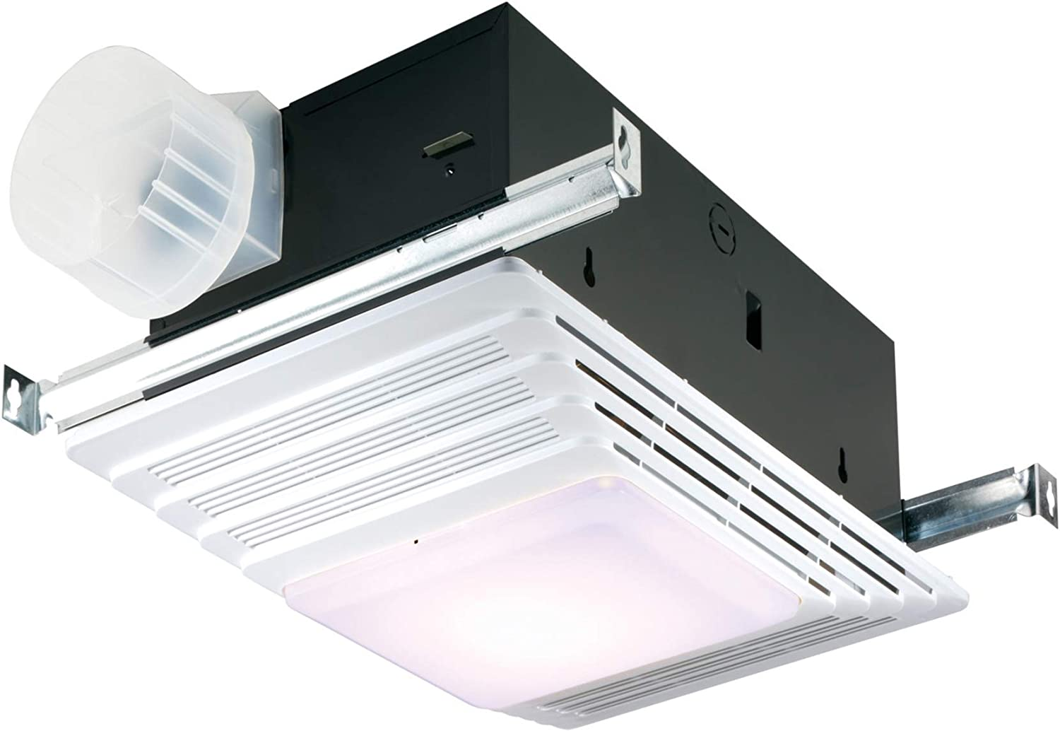Broan Nutone 655 Bath Fan And Light With Heater 70 Cfm 4 0 Sones White Plastic Grille Built In Household Ventilation Fans Amazon Com
