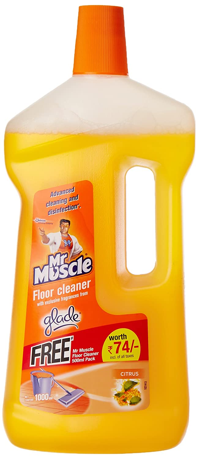 Mr muscle bathroom and toilet cleaner - Mr Muscle Floor Cleaner Citrus 1 L With Glade Refile Floor Perfection 500ml Free Amazon In Health Personal Care