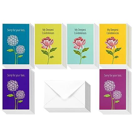 Amazon sympathy cards 36 pack sympathy cards bulk greeting sympathy cards 36 pack sympathy cards bulk greeting cards sympathy 6 peonies m4hsunfo Gallery