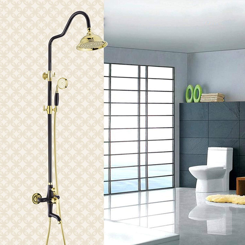 HSDDA - Juego de Ducha para baño, Color Negro: Amazon.es: Hogar