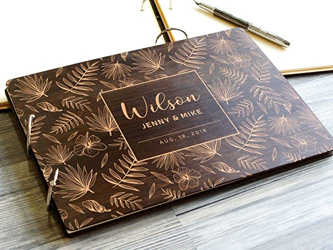 amazon com tropical wedding guest book palm leaves wedding