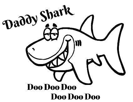 a72f0de6 Amazon.com: Daddy Shark Doo Doo Doo Iron On Transfer for T-Shirts ...