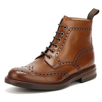 Loake Men s Leather Bedale Brogue Boots Dunkelbraun   B0764J4LK4