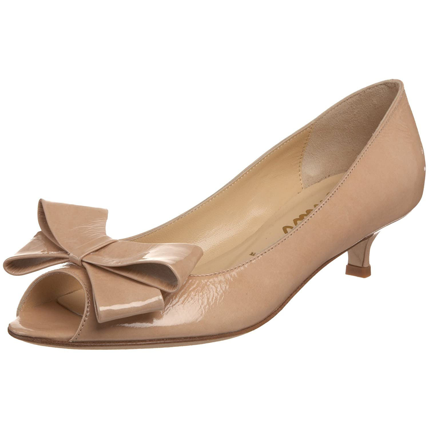Amazon.com | Butter Women's Cass30 Peep-Toe Kitten Heel Pump, nude ...