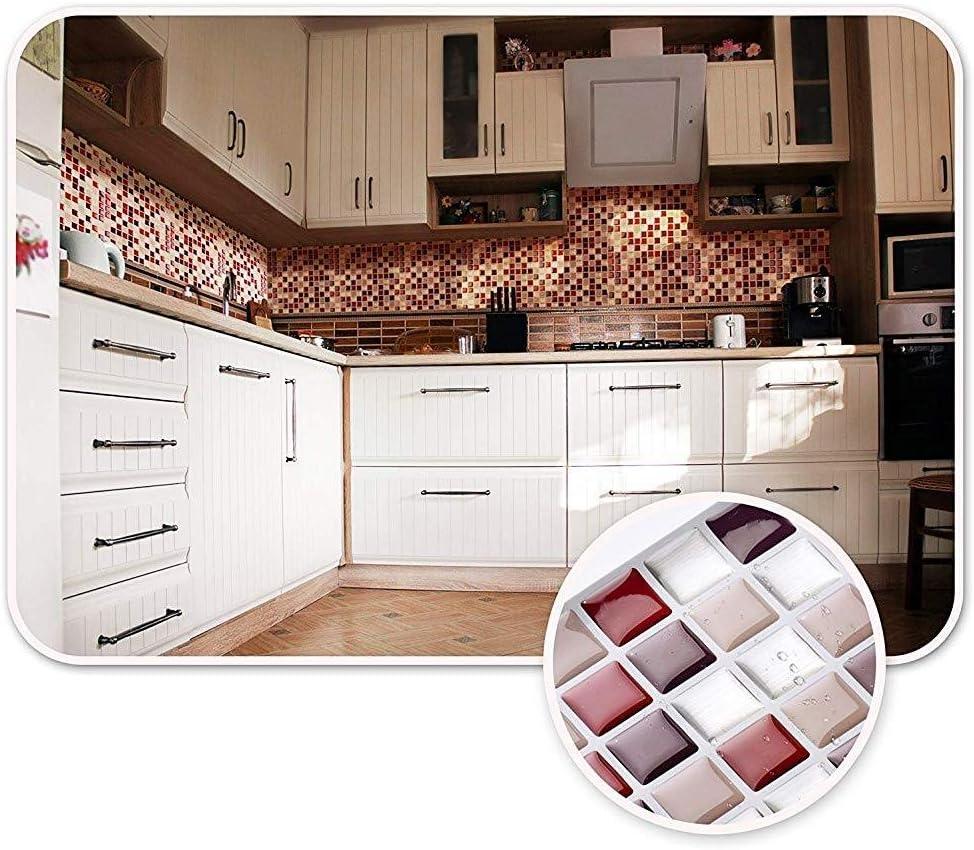 Transferencias etiquetas auto adhesivo impermeable cocina baño azulejo de la pared del arte del vinilo etiqueta etiquetas caseras Decoration10 X 10 (6 hojas): Amazon.es: Bricolaje y herramientas