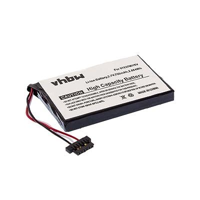 vhbw Batería Li-Ion 720mAh (3.7V) para Sistema de Navegación GPS Becker Ready 43, 43 Talk, 43 Traffic, 50 reemplaza BP-LP720/11-A1B.