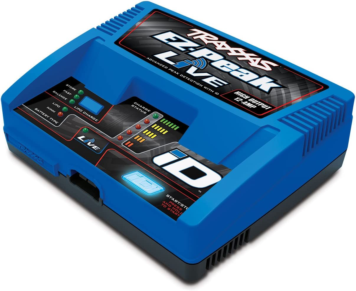 Traxxas 2971 EZ-Peak Live 12-Amp NiMH/LiPo Fast Charger with ID Technology Vehicle