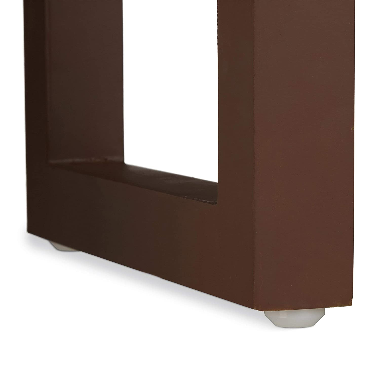 Table d/'appoint Moderne r/étro Relaxdays Tables gigognes Set de 3 Cette Table Basse Table empilable Bois laqu/é