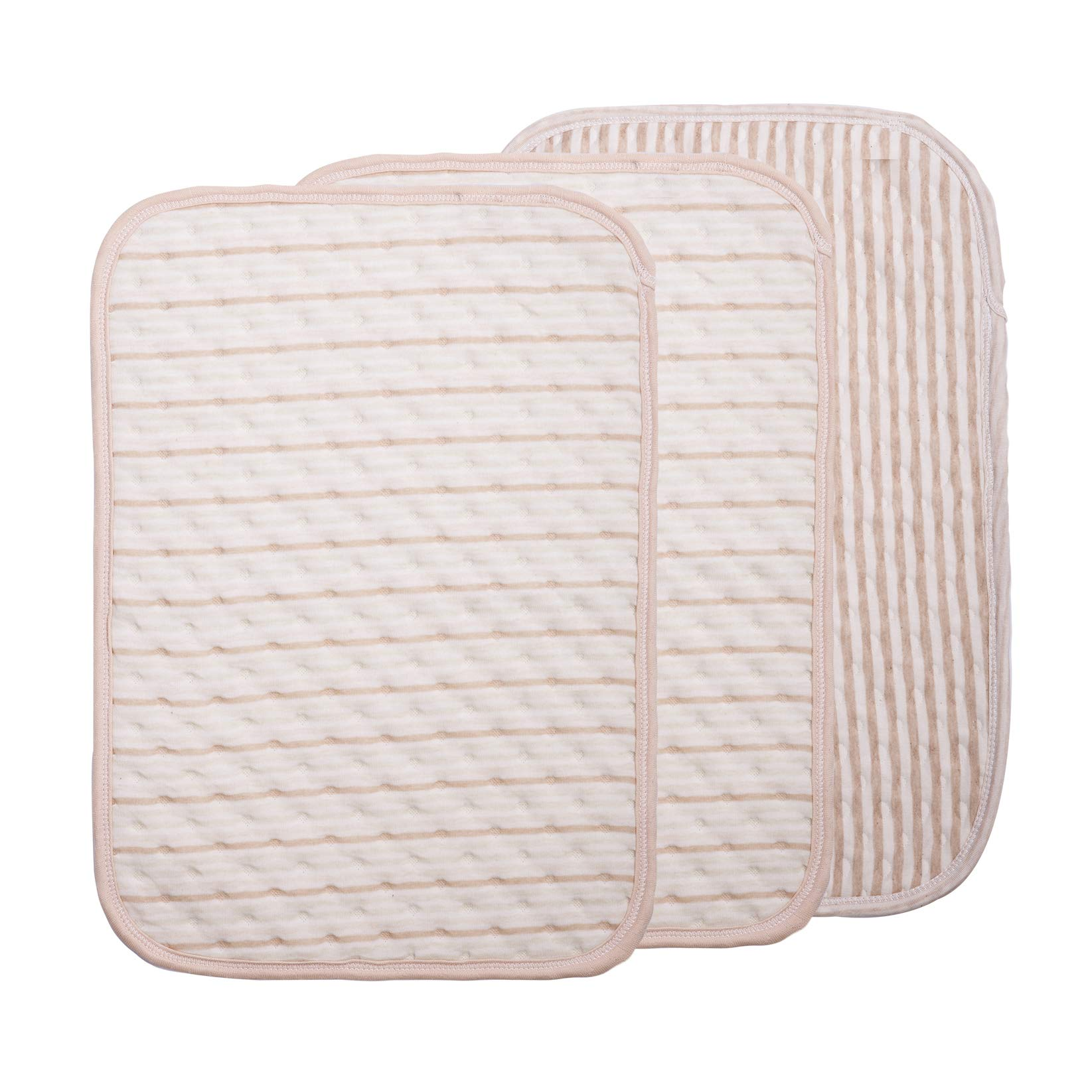 3 Packs Waterproof Soft Changing Pad Liners Suitable for Babies Cribs or Adults, Lengthened and Thickened (2color+1 tripes) by LiveTree