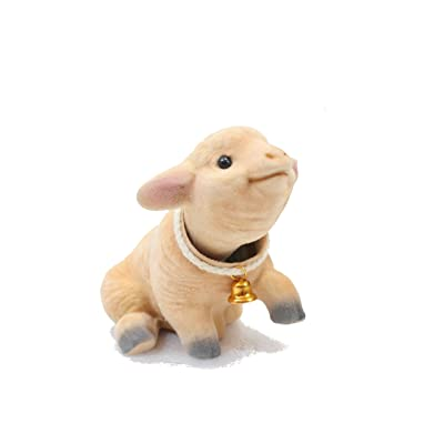 Lovable Bobblehead Sheep with Auto Dashboard Adhesive: Toys & Games