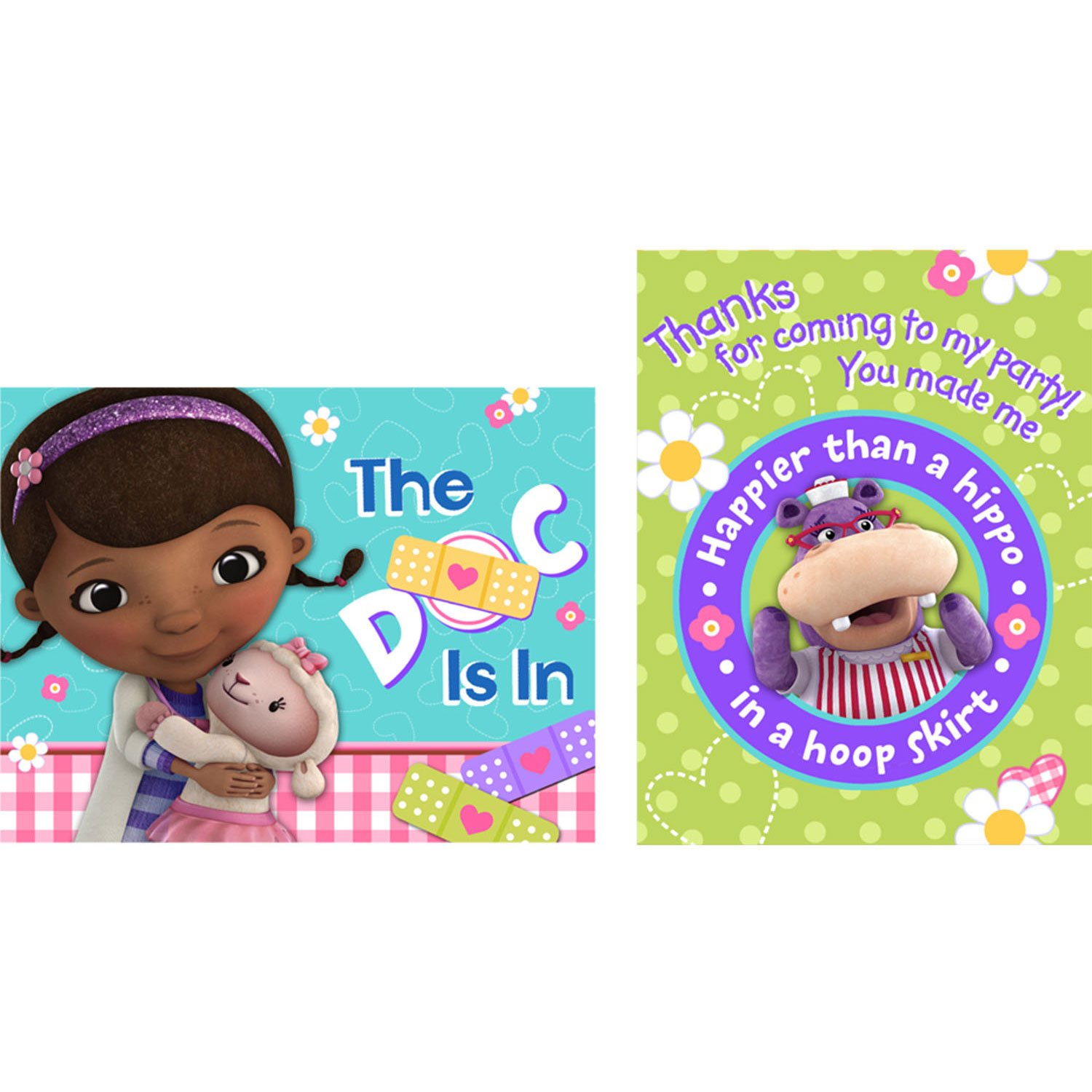 Amazon.com : Doc McStuffins Invitations w / Envelopes and Thank You ...