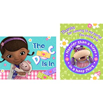 Amazoncom Doc McStuffins Invitations w Envelopes and Thank You