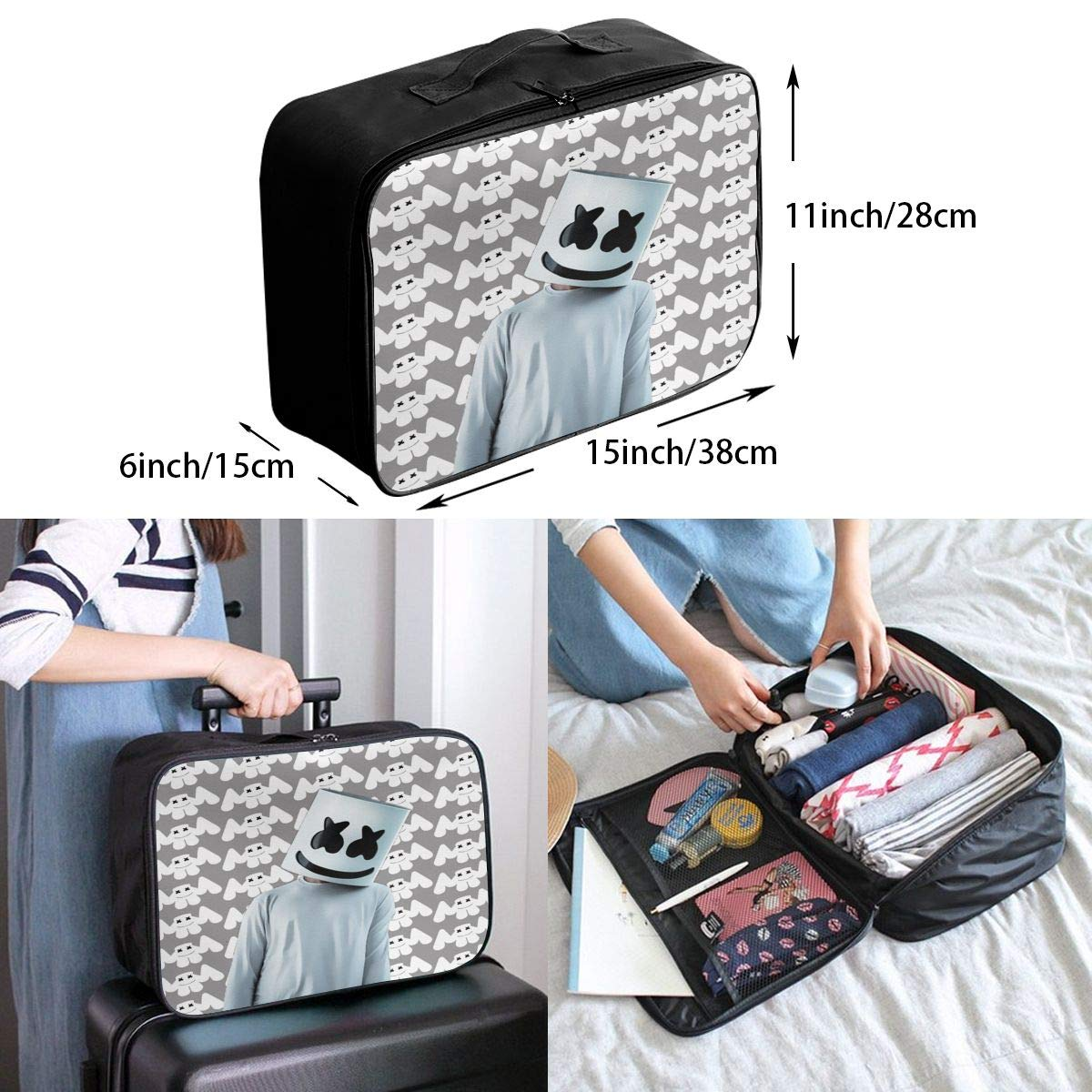Ma/_rshm/_ello Large Capacity Portable Luggage Bag Travel Lightweight Waterproof Storage Carry Luggage Duffel Tote Bag