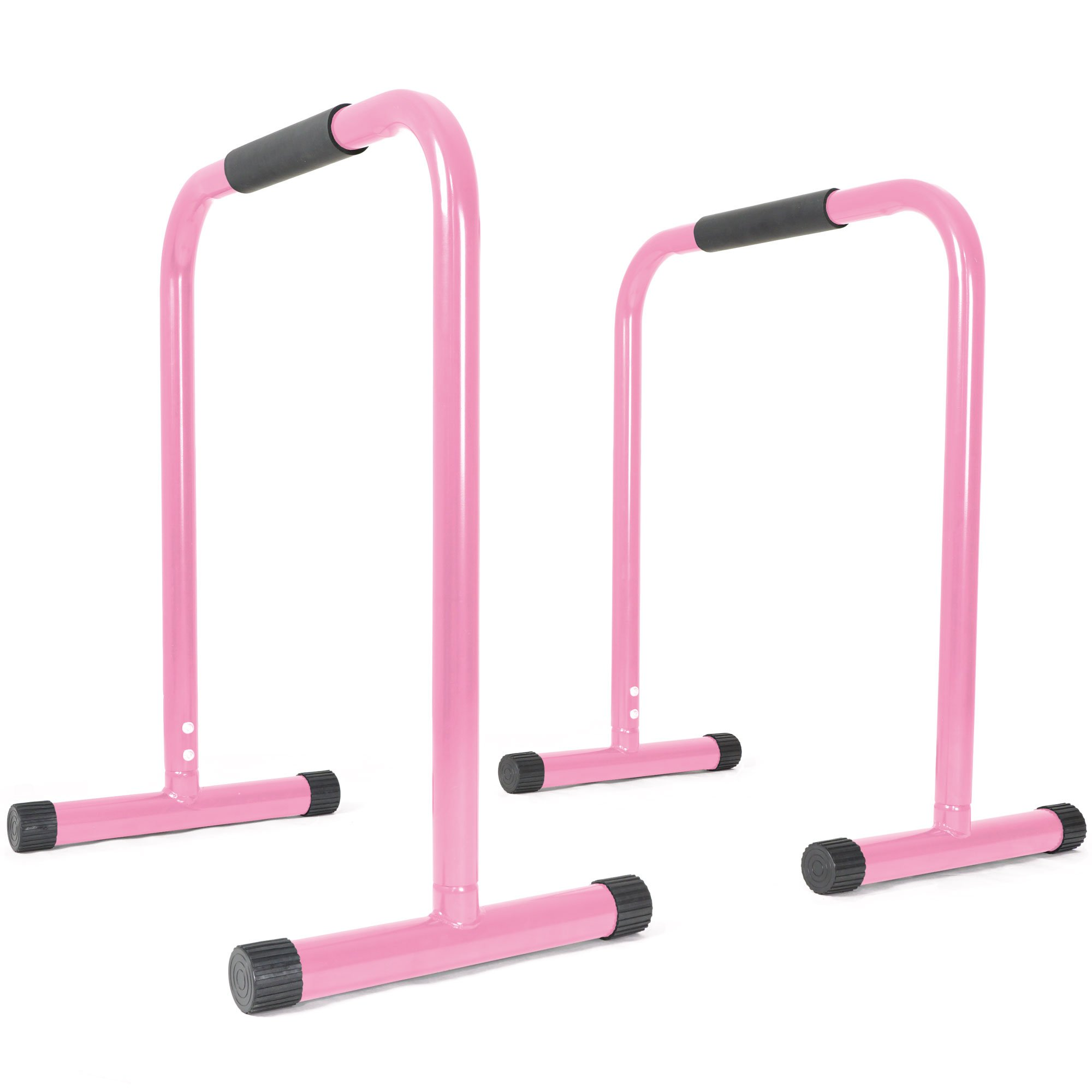 Titan Fitness Pink Dip Station Leg Raise Bars Body Weight Parallettes Crossfit by Titan Fitness
