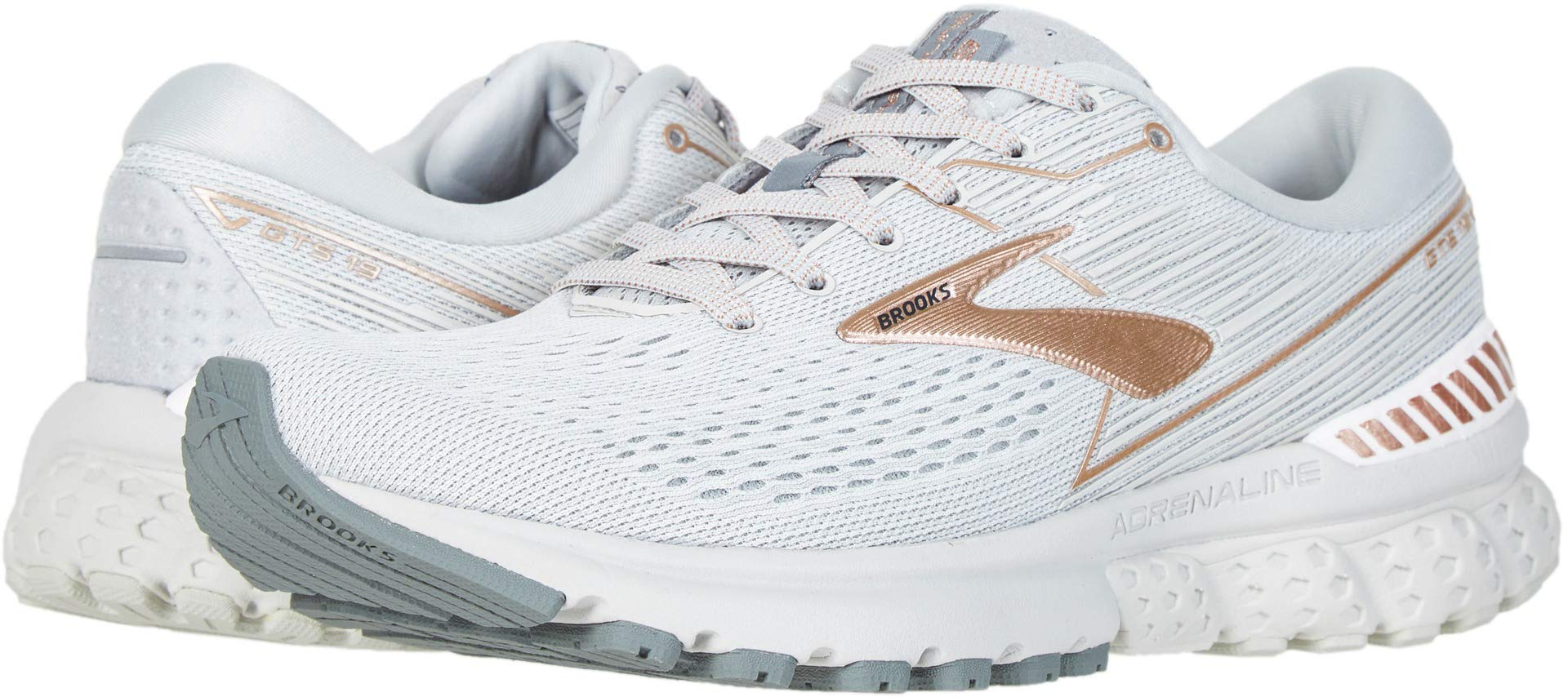 Brooks Women's Adrenaline GTS 19 Grey/Copper/White 12 B US by Brooks