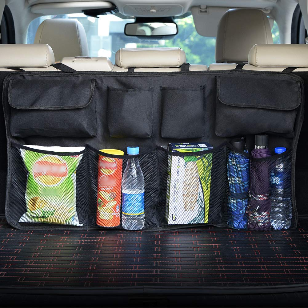 2 Pack Car Organizers Kick Mat,Dolank Waterproof Car Seat Back Organizer for Kids,Kick Mats Protector for Car,Car Seat storage Protectors with iPad holder,Multifunctions Car Seat Back Organizer with Multi-use Pockets for Bottles, Kids Toys, Snacks etc