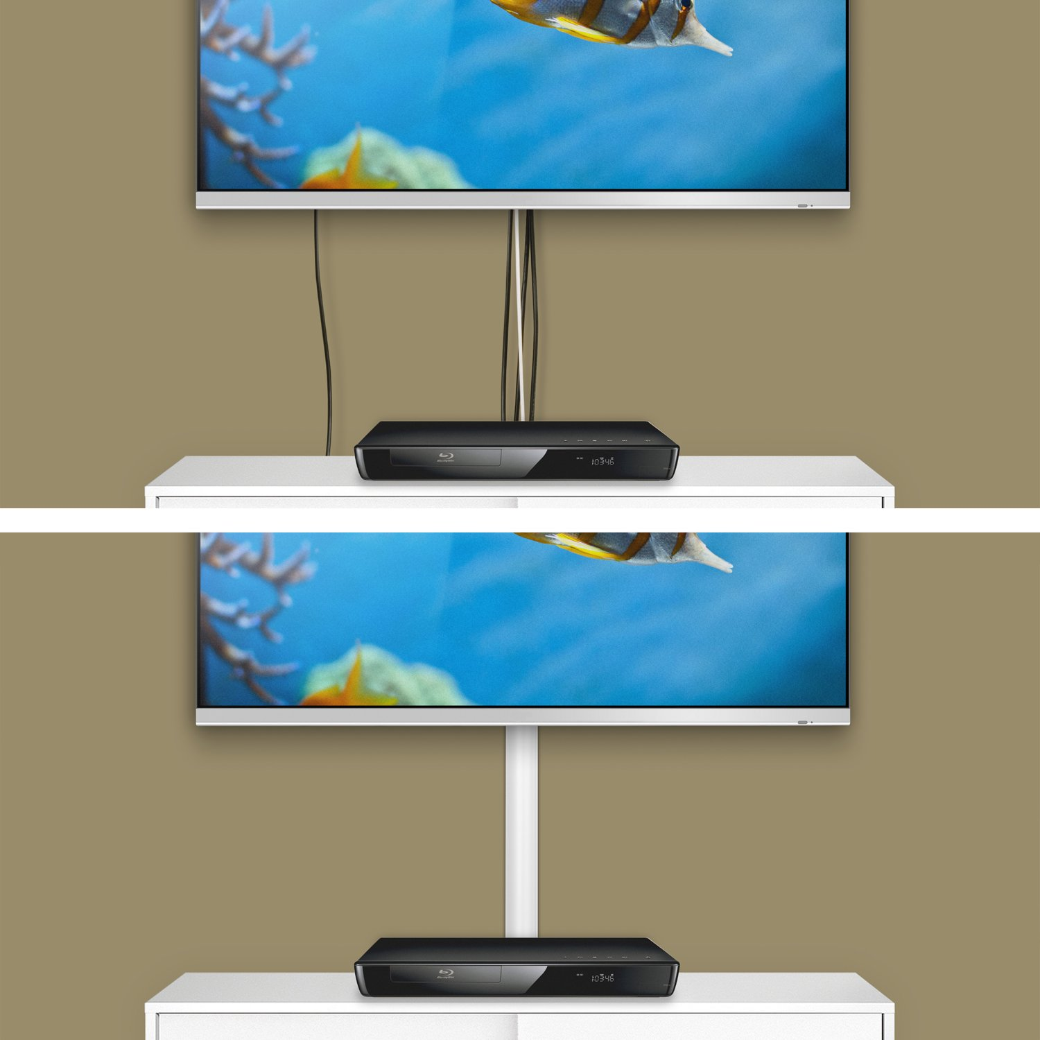D-Line Half Round TV Trunking | TV Cable Tidy | Decorative Cable ...