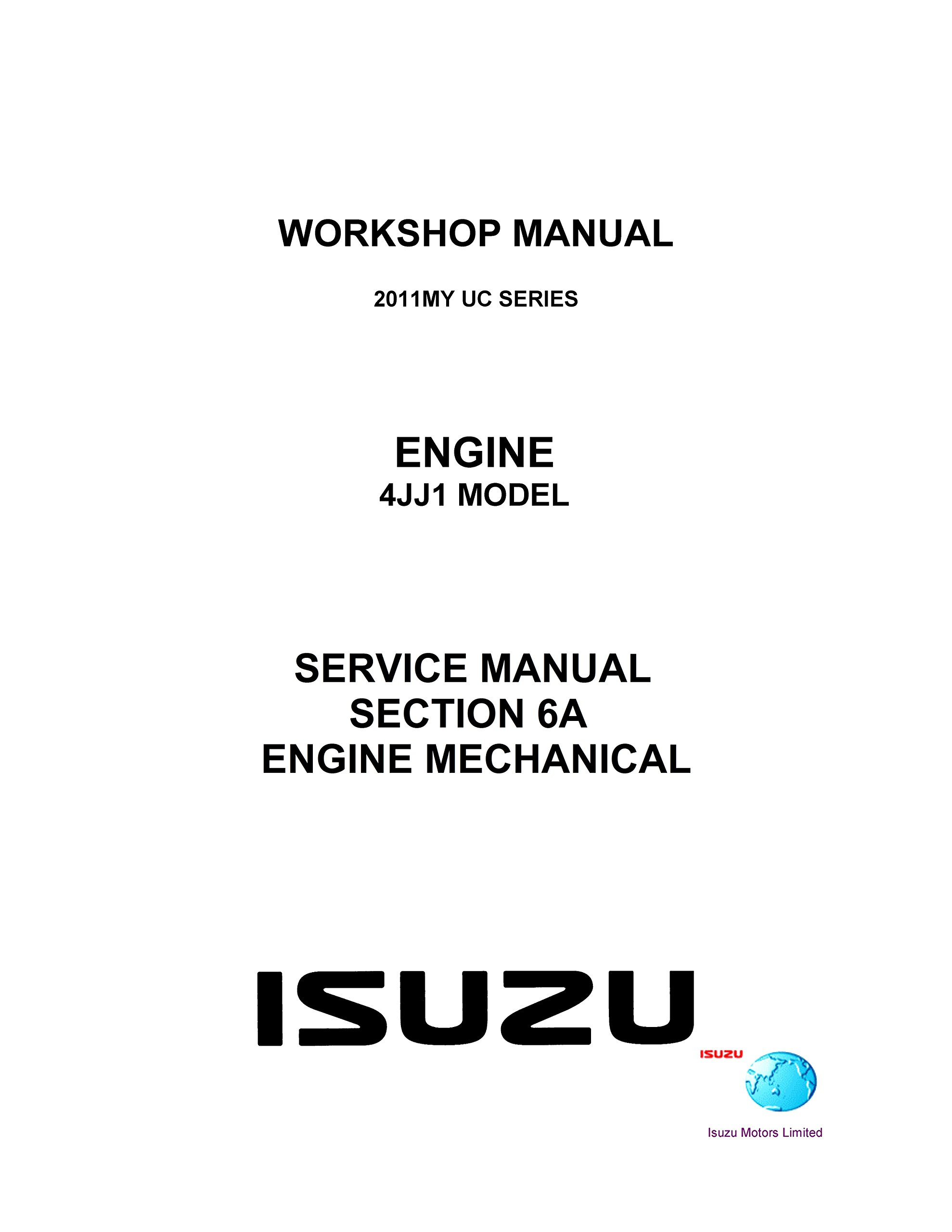 isuzu 4jj1 workshop manual ebook