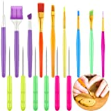 15 Pieces Cake Decorating Tool Set Cookie Decoration Brushes Cookie Scriber Needles Sugar Stir Needle for Cookie Cake…
