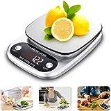 Bilancia da Cucina Digitale, UBEGOOD Alta Precisione Bilancia da Cucina Elettronica in Acciaio Inossidabile Cucina Bilancia 0.5g-10kg Digitale con Funzione Tare LCD Display Retroilluminato