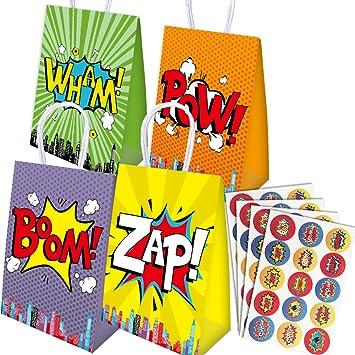 Paquete de 16 Bolsas de Fiesta de superhéroes y 60 Piezas de ...
