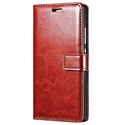 online retailer ca3f7 6eb00 XORB® Vivo V7 Plus Flip Cover PU Leather Case Luxury Revel Touch PU Leather  Cover for Vivo V7 Plus Brown