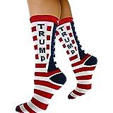Republican Statement Socks Donald Trump American Flag Pattern Unisex Adult Crew Fashion Novelty Socks