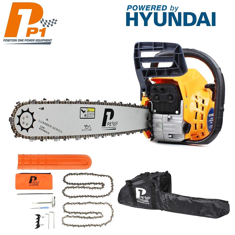 motor Hyundai alimentado por 62 cc Cadena de gasolina de 2 tiempos para arranque f/ácil P1PE P6220C