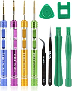BAKU Cell Phone Repair Tool Kit for iPhone Precision Screwdriver Set with Magnetizer/Demagnetizer Tool & Opening Pry Tools for iPhone X/8/8 Plus, 7/7Plus,6P/6S/6/5S/5/5C/4S/4/SE,iPod,iTouch (B-Pack)