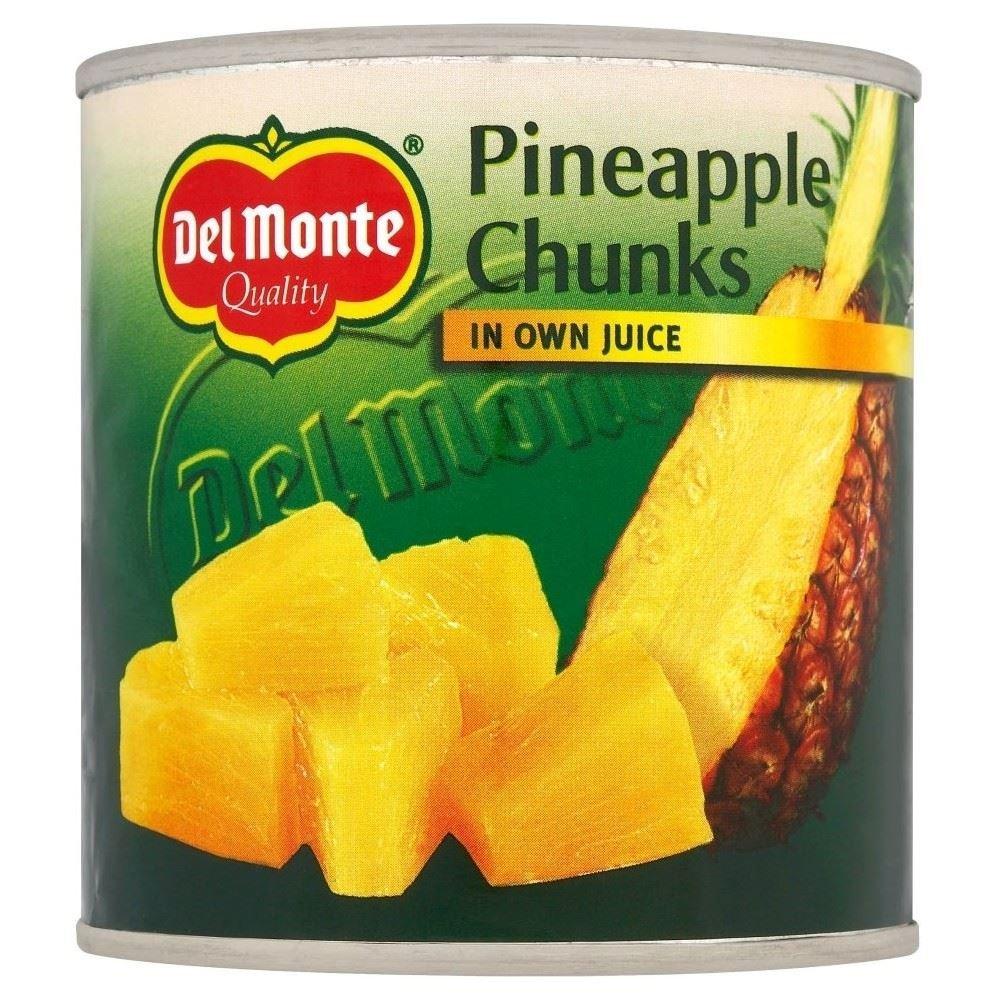 Del Monte Sliced Pineapple in Own Juice (425g) - Pack of 6