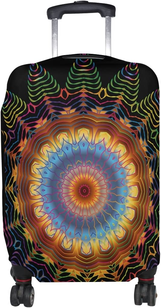 LEISISI Colorful Mandala Luggage Cover Elastic Protector Fits XL 29-32 inch Suitcase