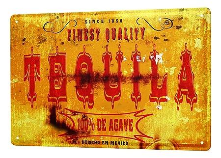 Cartel Letrero de Chapa XXL Motivo Retro M.A. Allen tequila ...
