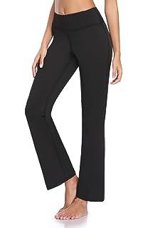 e427522a64d38 GUGUYeah Women's Workout Bootleg Yoga Pants Bootcut Leggings Active Wear  with Hidden Pockets