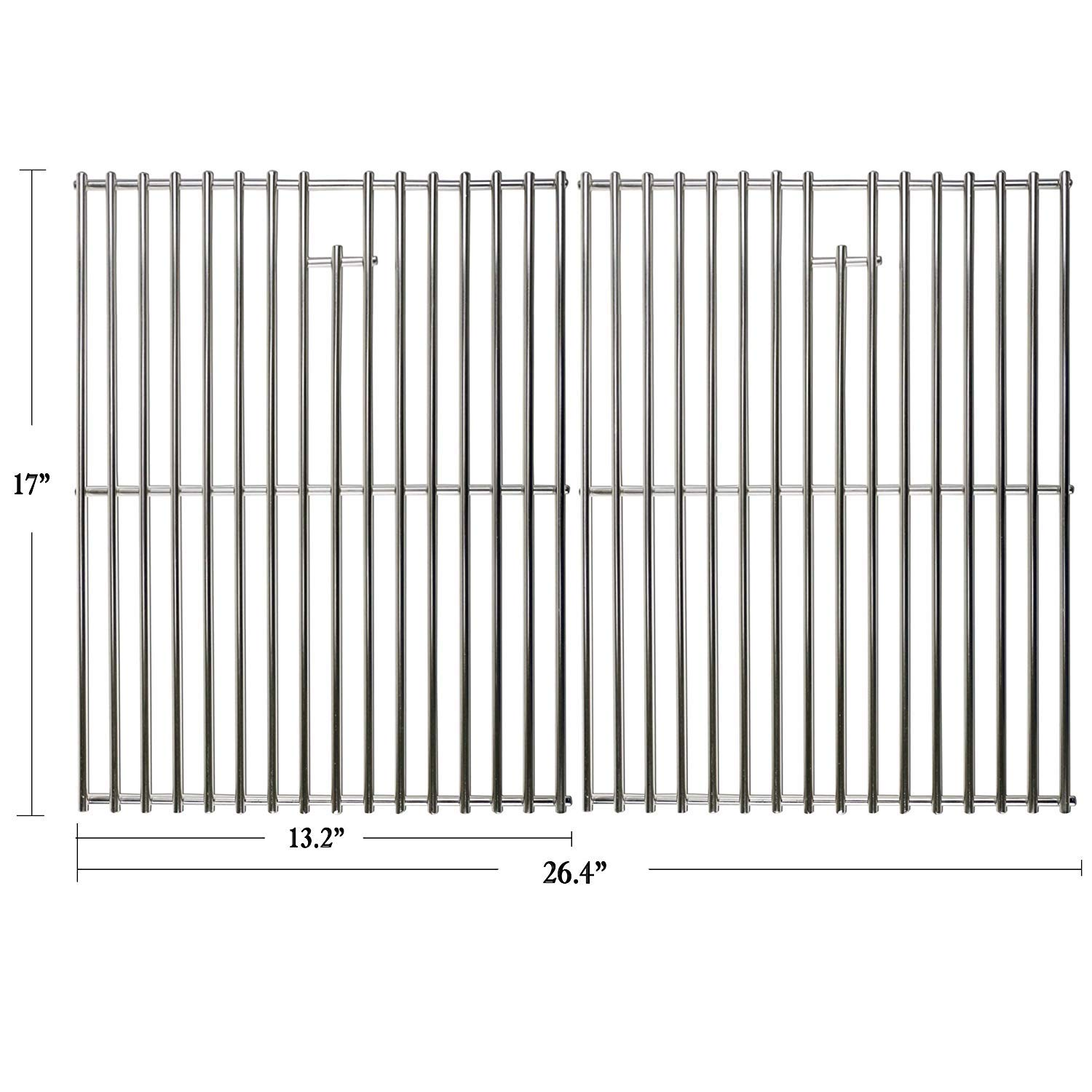 Hisencn 17 inch Grill Cooking grates Replacement Parts for Home Depot Nexgrill 720-0830H, 720-0830D, Kenmore, Uniflame Gas Grils, 17'' Stainless Steel Cooking grids by Hisencn