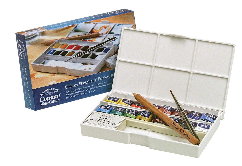 ea0fa280466f Amazon.com  Winsor   Newton Cotman Water Colour Paint Deluxe Sketchers   Pocket Box