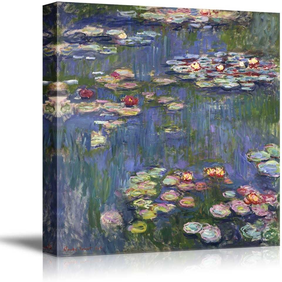 "wall26 - Water Lilies by Claude Monet - Canvas Art Wall Art - 24"" x 24"""
